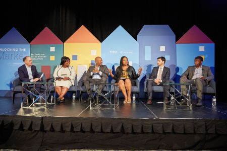 From left, Ben Hecht, Alicia Wilson, Daryl Shore, Michele Jawando, David Zuckerman and AJ Jackson at the Washington, D.C., panel discussion.