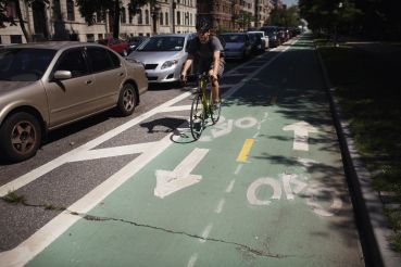 Bike lane in Brooklyn.