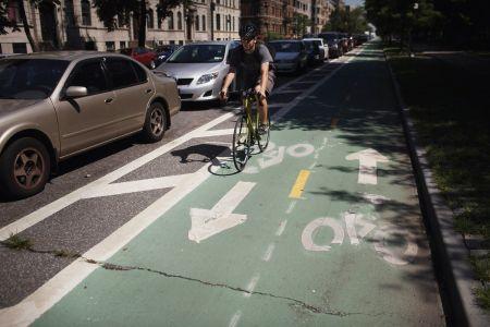 Bike lane in Brooklyn.