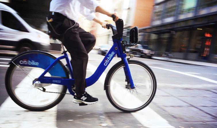 A Citi Bike rider.
