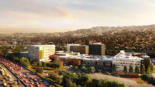 rendering of the new Providence Cedars-Sinai Tarzana Medical Center.
