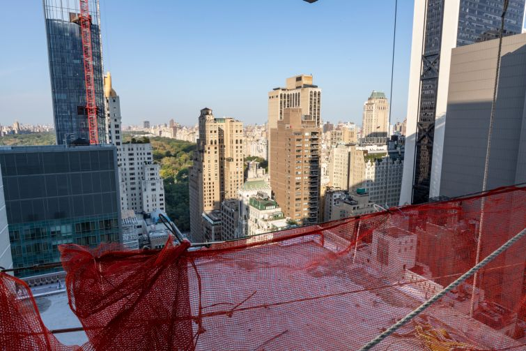 Central Park views are a feature of the higher floors at The Six, 106 West 56th Street.