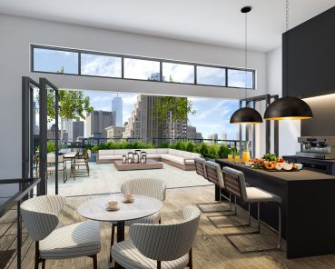 A rendering of the sixth-floor terrace at 2 Crosby Street.
