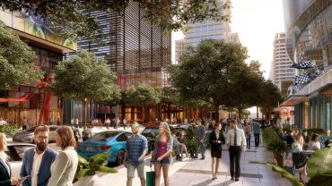 A rendering of the Water Street Tampa development.