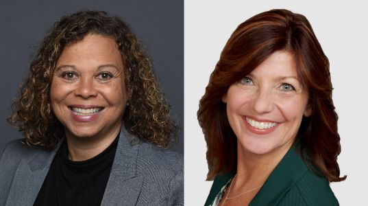 Cathrine Cotman and Theresa Hopkins-Johnson