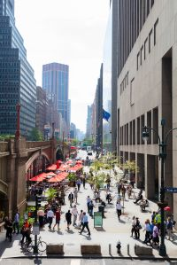 More than thirty years after first envisioned as part of the Grand Central Partnership's Master Plan for Midtown East, Pershing Square Plaza (West) is a welcome oasis of public space for the community.