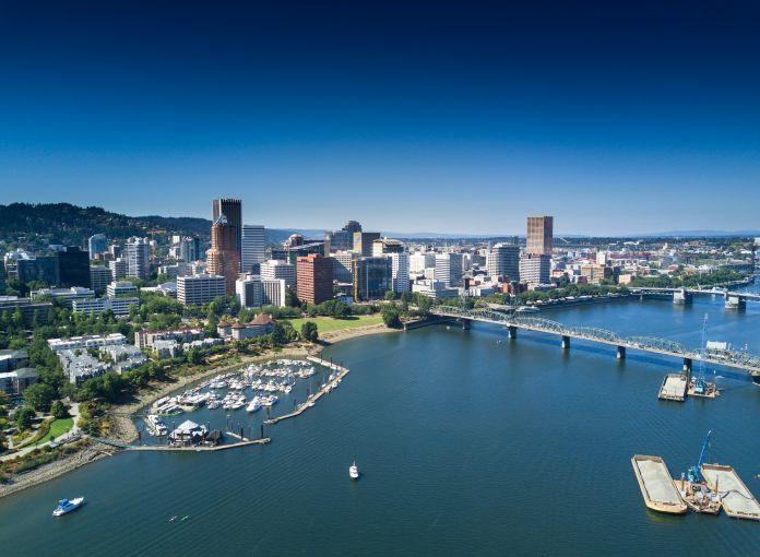 A view of Portland, Ore.