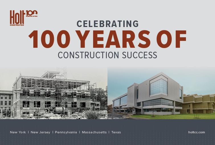 Holt Construction Celebrates 100 Years of Construction Success image