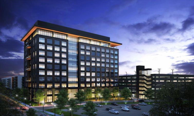 A rendering of 10 West End in St. Louis Park, Minn.