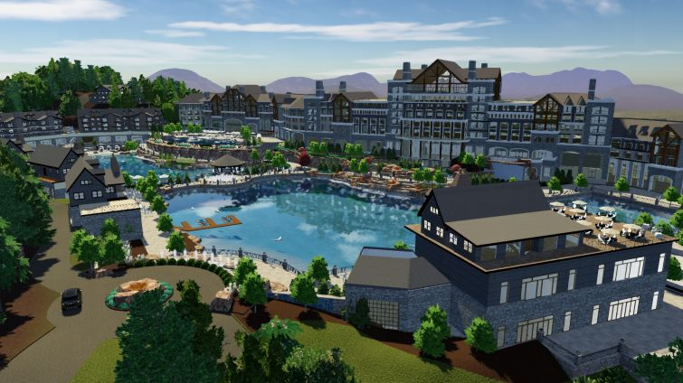 A rendering of Blue Mist Mountain Resort in Pigeon Forge, Tenn.