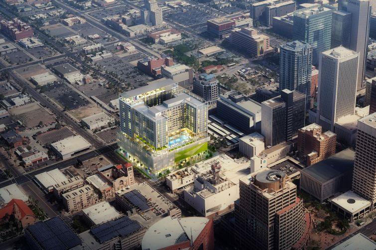 A rendering of 200 West Monroe Street in Phoenix.