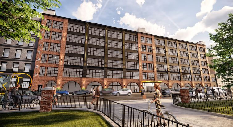 "Six warehouses in Long Island City are being clad with brick and converted to office space for a project called ""Urban Yard."""