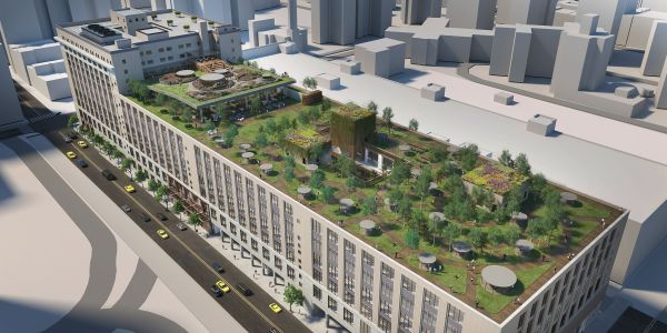 Tishman Speyer plans to convert the top half of the Morgan North Postal Facility in Chelsea into office space.