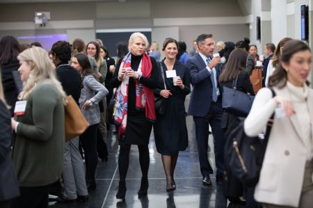 Women in the real estate and construction industries mingle before the start of Commercial Observer's first annual women in real estate conference.