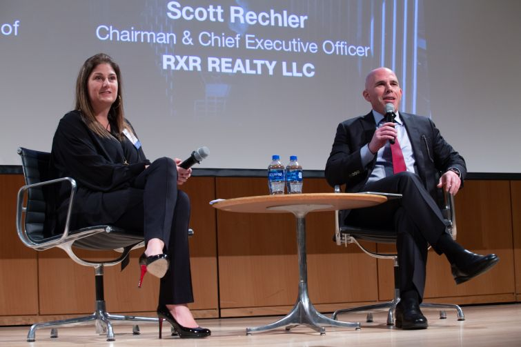 RXR's Whitney Arcaro discusses how she came up in the male-dominated real estate industry with her boss, RXR CEO Scott Rechler.