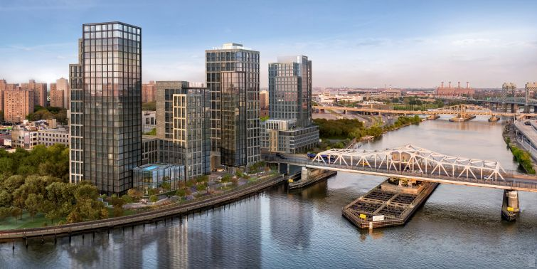 Brookfield's planned project on the South Bronx waterfront will include 1,300 apartments, including 350 affordable ones.