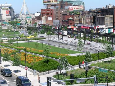 The Rose Kennedy Greenway in Boston.