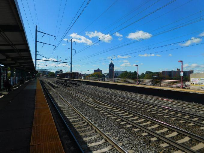 The Elizabeth, N.J. train station.