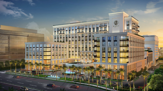 A rendering of the Banc Hotel in Irvine, Calif.