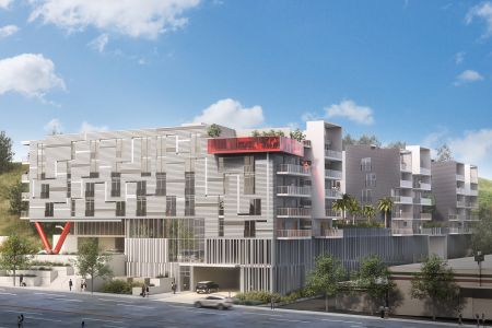 Silicon Beach Live Apartments at 6733 South Sepulveda Boulevard in Playa Vista.
