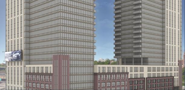 A rendering of Emerson Lofts in Jersey City, N.J.