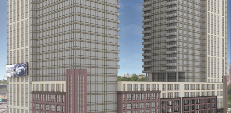 A rendering of Emerson Lofts in Jersey City, N.J.
