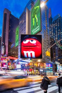 The M&M store at 1600 Broadway.