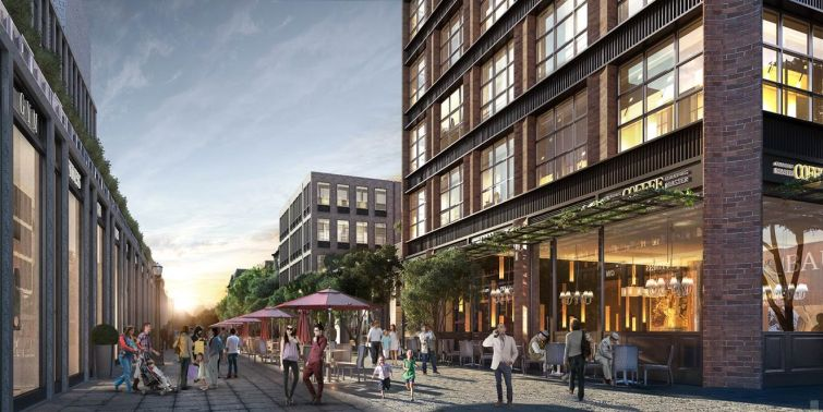 A rendering of Avery Hall's planned rental project at 120 Fifth Avenue.