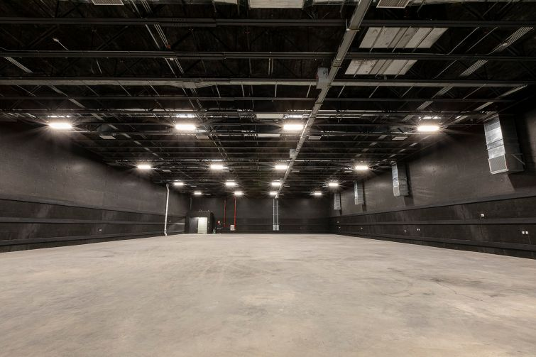 One of five stages, which range in size from 15,000 to 18,000 square feet and feature 30-foot ceiling heights.