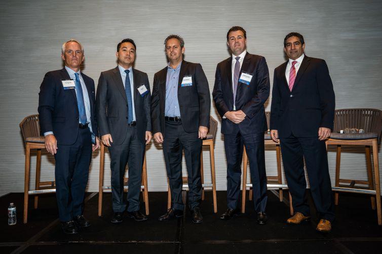 From left: Paul Brindley, John Lee, David Sotolov, Matt Downs and Nik Chillar.