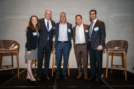 From left: Siobhan O'Donnell, Tom Whitesell, Ash Baraghoush, David Sudeck and  Michael Fleischer.