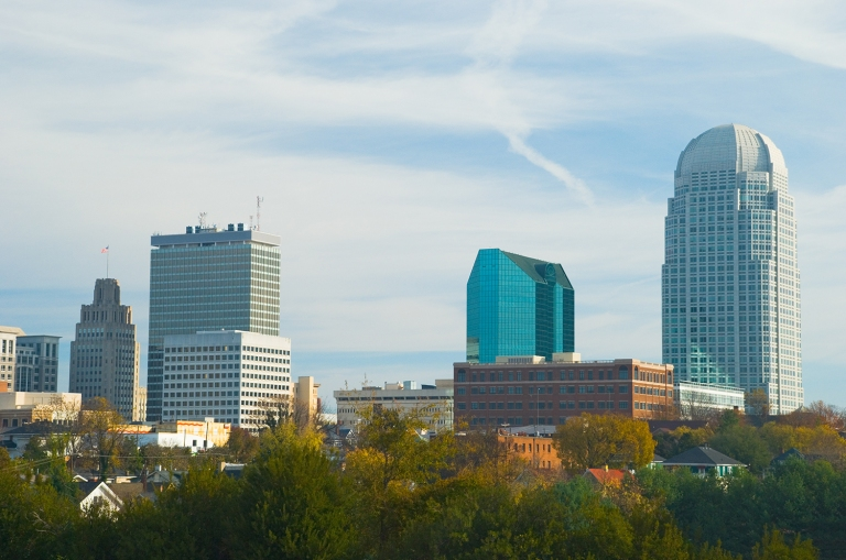 Downtown Winston-Salem, N.C.