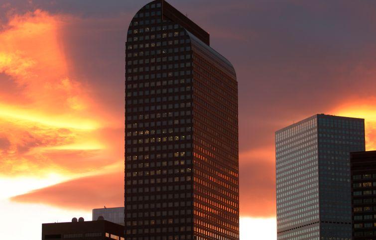 The Wells Fargo Center in Denver.
