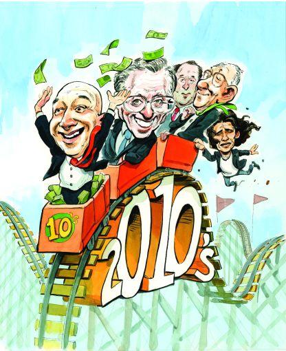 A decade that saw ups and downs for Jeff Bezos, Larry Silverstein, Gary Barnett, Steve Ross and Adam Neumann.