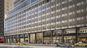 A rendering of 135 West 50th Street