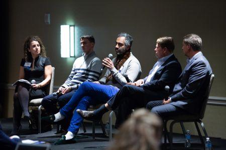 From left, Nina Roket, Chase Garbarino, Amol Sarva, Michael Phillips and Paul Darrah.