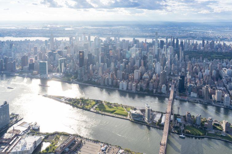 The Manhattan skyline.