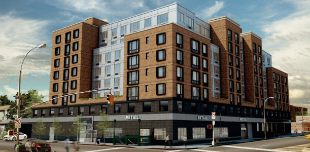 A rendering of Q-East in Jamaica Estates, Queens.
