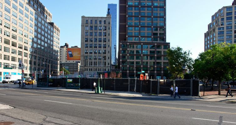 The development site at 2 Hudson Square.