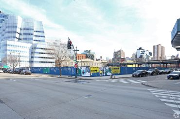 The site at 76 11th Avenue, which HFZ is building The XI condo project at.