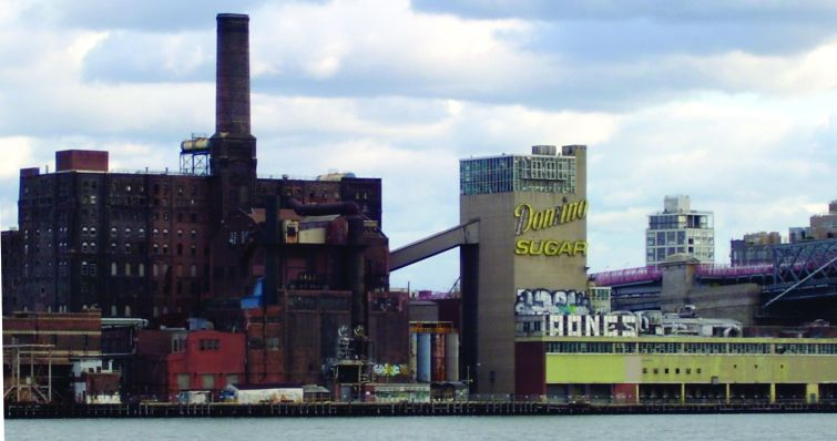 The Domino Sugar plant in Williamsburg, pre-Two Trees facelift.