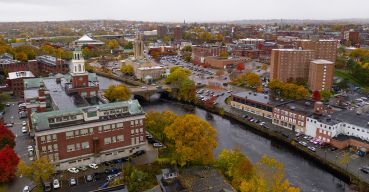 The Pawtucket, R.I. waterfront.