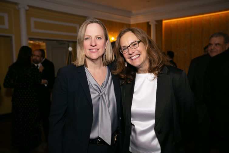 Melinda Katz, Queens District Attorney; Sharon Greenberger, President and CEO, YMCA of Greater New York.