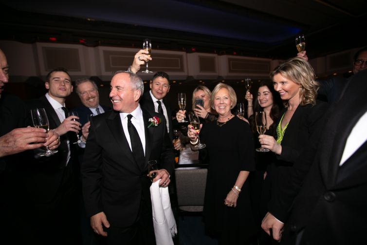 KRW Realty Advisors toasts Kevin Wang at REBNY's 124th Annual Banquet.