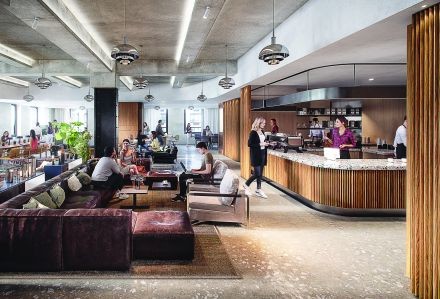 EQ Office is putting a tenant-only lounge, cafe and gym on the second floor in an effort to attract new companies to 1740 Broadway, which is losing two major tenants in the next year.