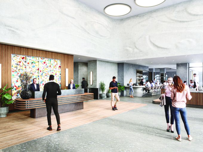 The new lobby will include a yet-to-be-named restaurant by Michelin-starred chef John Fraser.