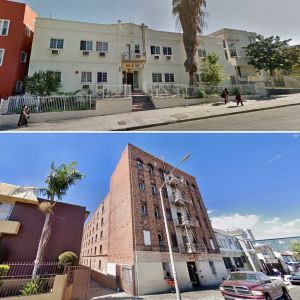 The properties at 720 South Westlake Avenue and 729 South Bonnie Brae Street.