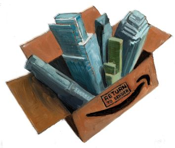 One year after Amazon packed its things and walked out of Queens' door.