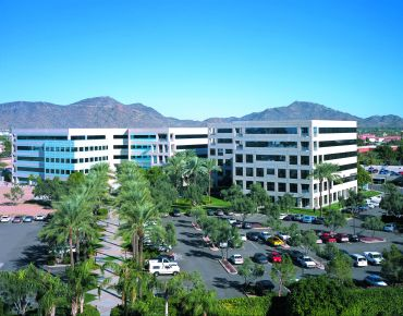 Aerial view of Canyon Corporate Plaza.