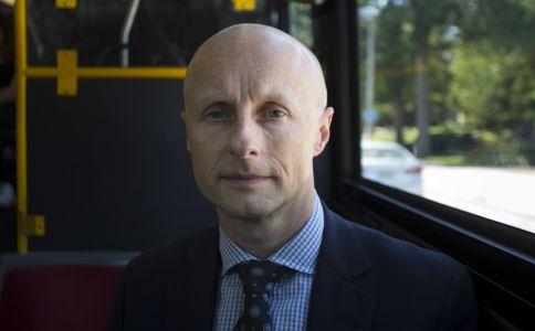 andy byford on a bus